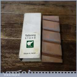 "Vintage Japanese Boxed 6"" x 2"" Medium Grit Flattening Whetstone"