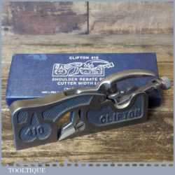 Near Mint Boxed Clifton No: 410 Shoulder Plane - Little Used Condition