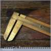 Vintage Rabone No: 1465 Imperial Boxwood Brass Caliper Ruler