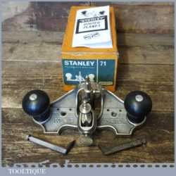 Vintage Boxed Stanley No: 71 Hand Router Plane - Good Condition