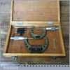 2 Boxed Vintage Mitutoyo Metric Micrometers - Good Condition