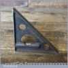 Vintage Cast Steel Corner Mitre Square With Spirit Level - Good Condition