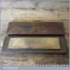 "Vintage 8"" x 2"" Natural Washita Oil Stone Mahogany Box - Lapped Flat"