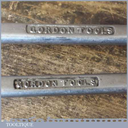 Vintage Collection 6 Gordon Tools A/F RIng Spanners - Good Condition