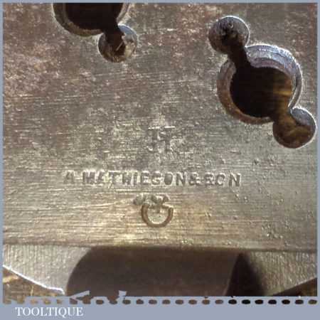 T14030 - Scarce Alex Mathieson & Son clock maker's or engineer's BA thread chaser in good used condition.