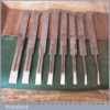 Full Set 8 No: Vintage William Marples & Sons Plough Irons - Good Condition
