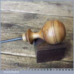 Vintage Leatherworkers Boxwood Shouldered Marking Awl - Good Condition