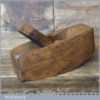"""Vintage 7"""" Beechwood Compass Plane Good Condition Lapped Flat"""