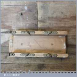 Vintage Beechwood Mitre Cutting Box With Brass Fittings