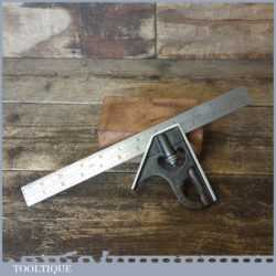 Vintage Rabone Chesterman No: 1902 Steel Adjustable Combination Square