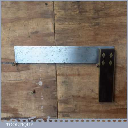 """Vintage Spear & Jackson Carpenters Rosewood Double Brass 12"""" Try Square"""
