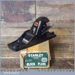 Vintage Boxed Stanley No: 102 Block Plane - Fully Refurbished Ready To Use