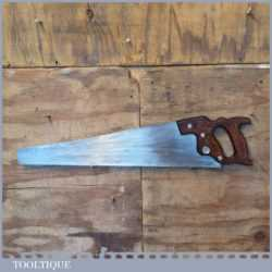 "Vintage Henry Disston USA 24"" Cross Cut Handsaw 5 TPI - Sharpened"