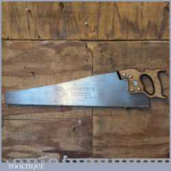 "Vintage Henry Disston Canada 26"" Cross Cut Handsaw 7 TPI - Sharpened"