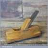 """Vintage Patternmaker's 5 ¼"""" Beech Hollowing Plane - Good Condition"""