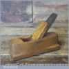 "Vintage Pattern Maker's 5 ¼"" Beechwood Hollowing Plane - Good Condition"