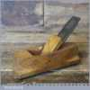 """Vintage 5 ¼"""" Patternmaker's Beechwood Hollowing Plane - Good Condition"""