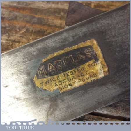 """Vintage Marples Carpenter's 6"""" Mahogany Brass Try Square - Good Condition"""