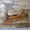 Vintage Continental Horned Beechwood Roughing Scrub Plane - Lapped Flat