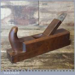 Vintage Continental Beechwood Smoothing Plane Sloyd Sheffield Iron - Lapped Flat