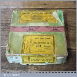 Vintage Boxed 66 ft John Rabone No: 401 Leather Bound Tape Measure