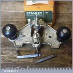 Vintage Boxed Stanley No: 71 Hand Router Plane Complete - Good Condition