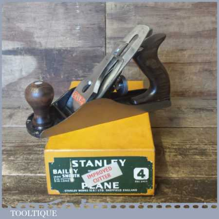 Vintage Boxed Stanley England No: 4 Smoothing Plane - Fully Refurbished