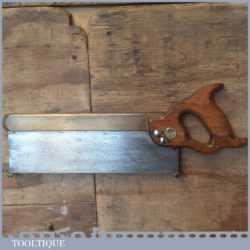"Vintage 12"" G.H.E. Charlesworth Sheffield Brass Back Tenon Saw 1933-1960"