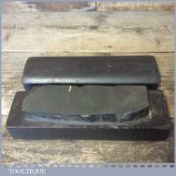 """Vintage Boxed 6 ½"""" x 2"""" Natural Turkey Honing Stone - Ready To Use"""