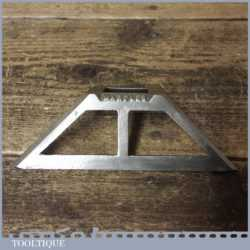 """Vintage W Marples & Sons 6"""" Nickel Plated Mitre Template - Good Condition"""