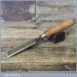 "Vintage Carpenter's 1"" Bevel Edge Chisel - Sharpened Honed"