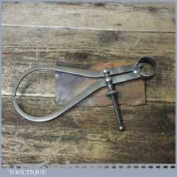 """Vintage Moore & Wright 7"""" Spring Caliper Outside Dividers - Good Condition"""