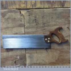 "Vintage Sanderson Bros & Newbould 14"" Steel Back Tenon Saw 11 TPI - Sharpened"