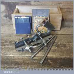 Vintage Record No: 044 Plough Plane With 8 Cutters - Fully Refurbished