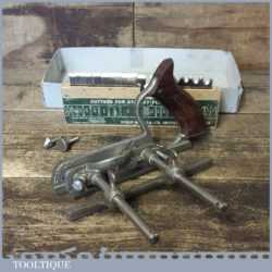 Vintage Stanley England No: 50 Combination Plough Plane 17 Cutters