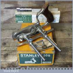 Vintage Boxed Stanley England No: 50s Combination Plough Plane - Refurbished