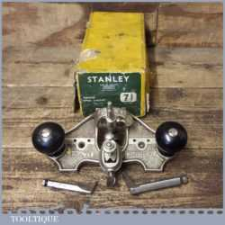 Vintage Boxed Stanley England No: 71 Hand Router Plane - Little Used