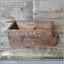 Scarce Vintage Farrier's Wooden Nail Box By Mustad - Good Condition