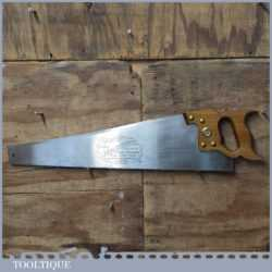 "Vintage Baier Germany 24"" Cross Cut Panel Handsaw 7 ½ TPI - Sharpened"