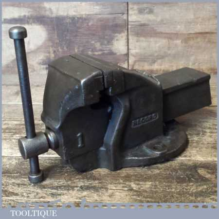 "Vintage Record No: 1 Mechanic's Bench Vice 3"" Jaws - Good Condition"