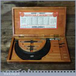 "Vintage Boxed No: 942 Moore & Wright 2""- 6"" Micrometer - Good Condition"