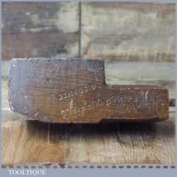 "Antique No: 14 Griffiths Norwich 5/8"" Hollowing Beechwood Moulding Plane"