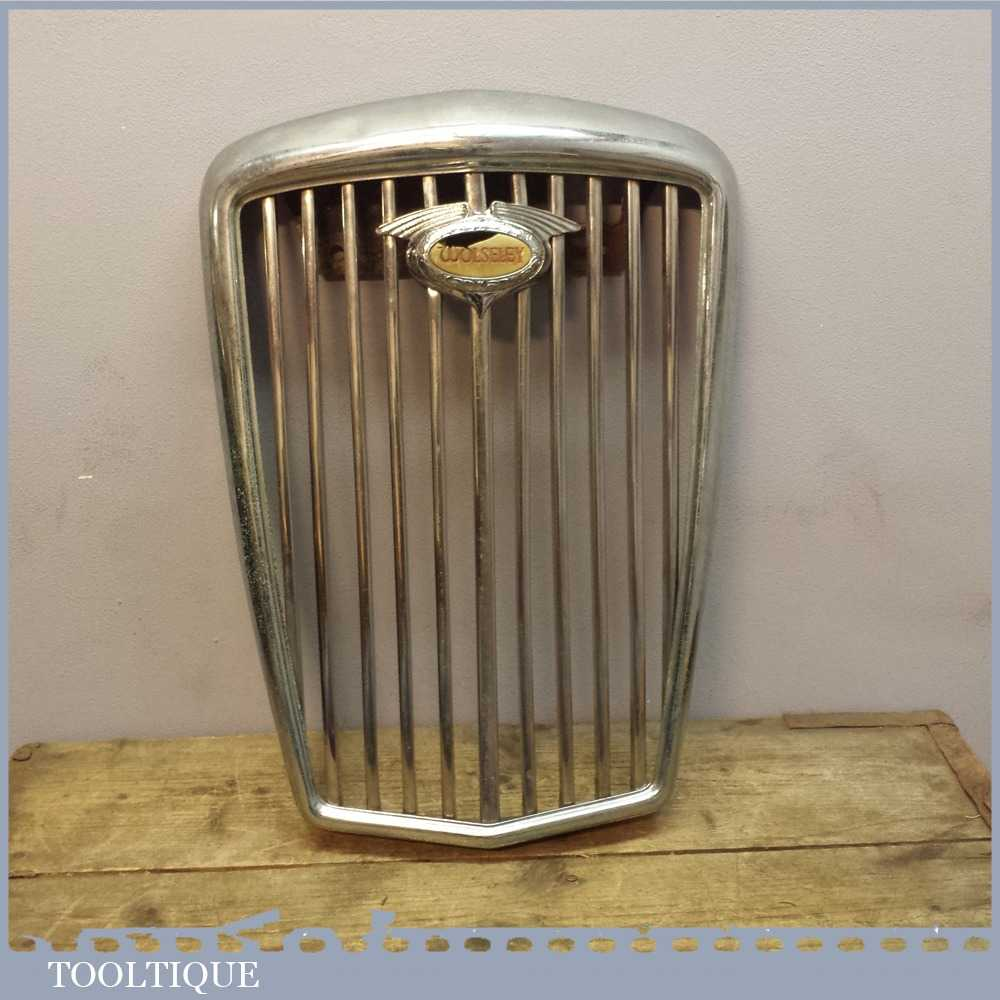 "Vintage Wolseley 18"" High Car Grill - Automotive Collectors Item"