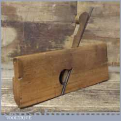 """Antique 3/4"""" Side Round Beechwood Moulding Plane - Good Condition"""