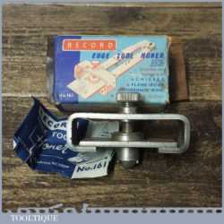 Vintage Boxed Record No: 161 Honing Guide For Chisels Plane Irons