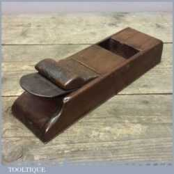 Antique Wooden Mitre Plane With Steel Sole - Old Woodworking Tool