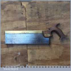 "Vintage Robert Sorby Kangaroo 12"" Brass Back Tenon Saw 11 ½"" TPI - Sharpened"