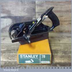 Vintage Boxed Stanley England No: 78 Duplex Rabbet Plane - Fully Refurbished