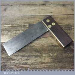 "Vintage Carpenters 6"" Rosewood Brass try Square - Good Condition"
