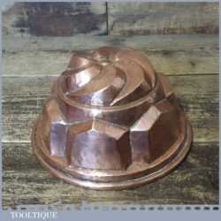 Antique Victorian kitchenalia Copper Jelly Or Blancmange Mould